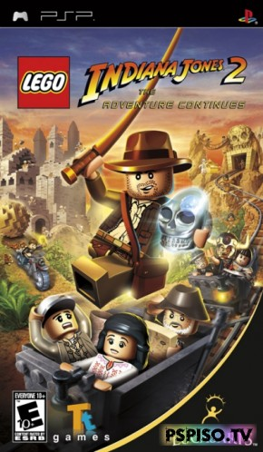 LEGO Indiana Jones 2: The Adventure Continues - USA 5.xx Patched - скачать видео для psp, прошивка psp, игры psp, игры для psp.