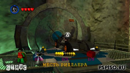 LEGO Batman: The Videogame - Rus - прошивки для psp, бесплатно, видео, игры для psp.