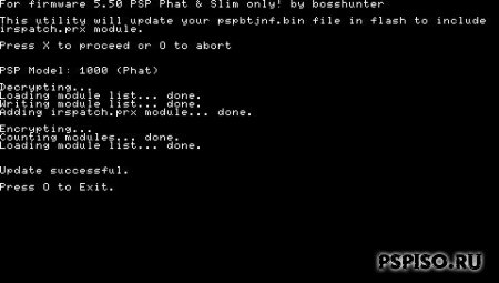 iR Shell Patch - btcnfpatch.prx для CFW 5.50