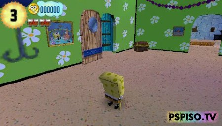 SpongeBob's Truth or Square - эмуляторы psp, psp soft,  псп,  psp игры.