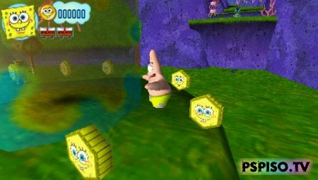 SpongeBob's Truth or Square - psp �������,  ���, ���� ��� psp, ��� psp.