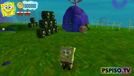 SpongeBob's Truth or Square - ��������� psp, psp �������,  ������� ��������� ���� ��� psp,  psp ���� ��������� ��� �����������.