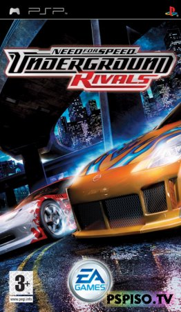 NFS Undergorund Rivals (made by Saka) - psp go, игры psp,  бесплатно psp, для psp.