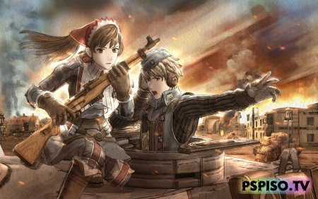 Геймплей Valkyria Chronicles 2 - игры для psp, игры psp, psp скачать,  psp go.