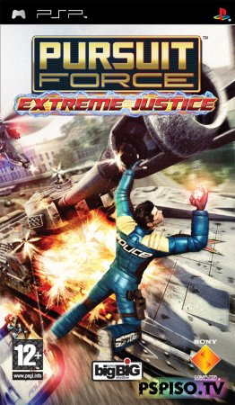 Обзор игры Pursuit Force Extreme Justice + видеообзор - psp go, игры psp, игры для psp, бесплатно psp.