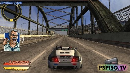Обзор игры Pursuit Force Extreme Justice + видеообзор - psp игры, игры для psp, psp slim, psp игры.