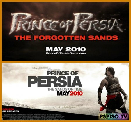 Игра: Prince of Persia: The Forgotten Sands & Фильм: Prince of Persia: The Sands of Time - В Мае 2010 - фильмы на psp, игры бесплатно для psp, psp 3008,  игры для psp.