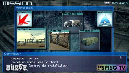 Armored Core: Last Raven Portable - USA - темы для psp,  psp,  игры на psp, одним файлом.