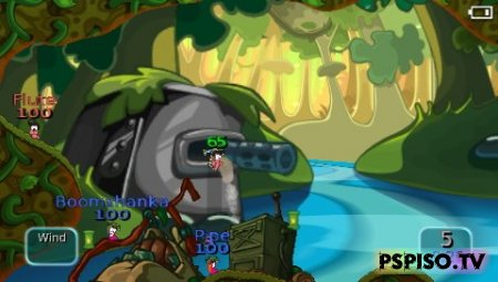WORMS-Battle IslandsDEMO - обои,  игры для psp, игры нa psp, темы для psp.