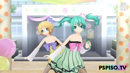 Hatsune Miku: Project Diva 2nd JAP(PATCHED) - игры для psp,  обои,  темы, игры для psp.