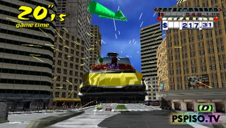 Crazy Taxi: Fare Wars 2.01 / NEW VERSION - USA - скачать игры на psp бесплатно, видео, фильмы на psp, psp.