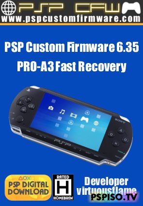 PSP Custom Firmware 6.35 PRO-A3 Fast Recovery