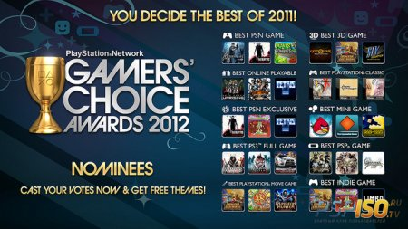 Gamers Choice Awards 2012 - номинанты на премию
