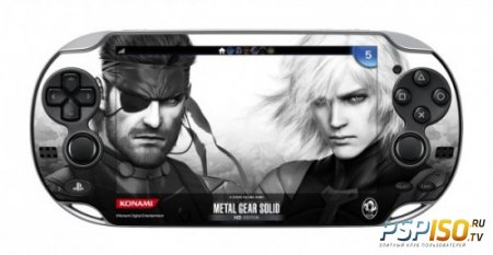 Наклейка для PS Vita в комплекте с Metal Gear Solid HD