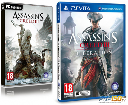 ����� ������������� ������ ��� Assassin's Creed 3 (PS3) � Assassin's Creed: Liberation (PSVita)
