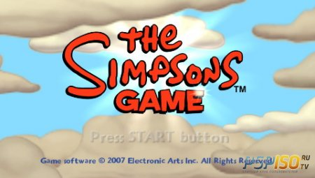Игра Симпсоны / The Simpsons Game (PSP/RUS) (Full / Rip)