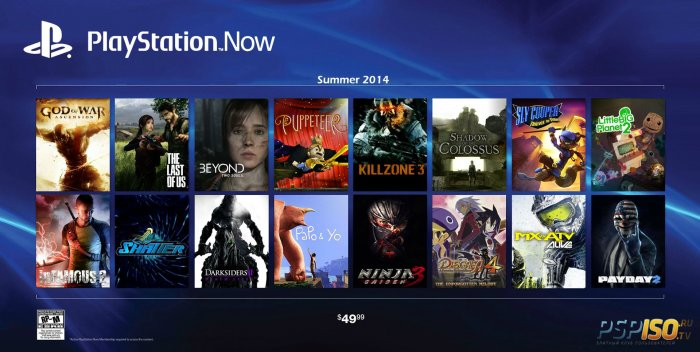 �������� ������� ��� PlayStation Now