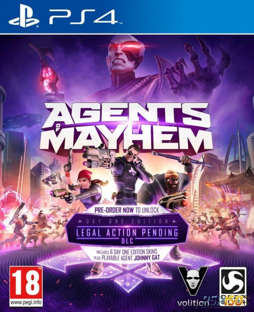 Agents of Mayhem STEELBOOK Edition для PS4